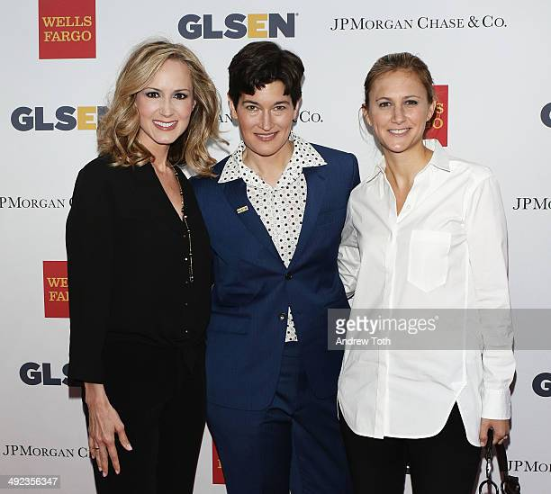 Chely Wright Dr Eliza Byard and Lauren BlitzerWright attend 11th Annual GLSEN Respect awards at Gotham Hall on May 19 2014 in New York City