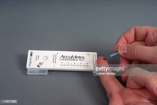 Chem Trak's AccuMeter the first homeuse cholesterol testing kit has been approved in the USA The Food and Drug Administration gave the OK to the...