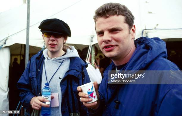 Chemical Brothers Tom Rowlands and Ed Simons portrait Glastonbury Festival United Kingdom 1997