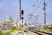 vilaseca catalonia spain railway tracks vicinity