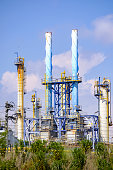 vilaseca catalonia spain view petrochemical complex