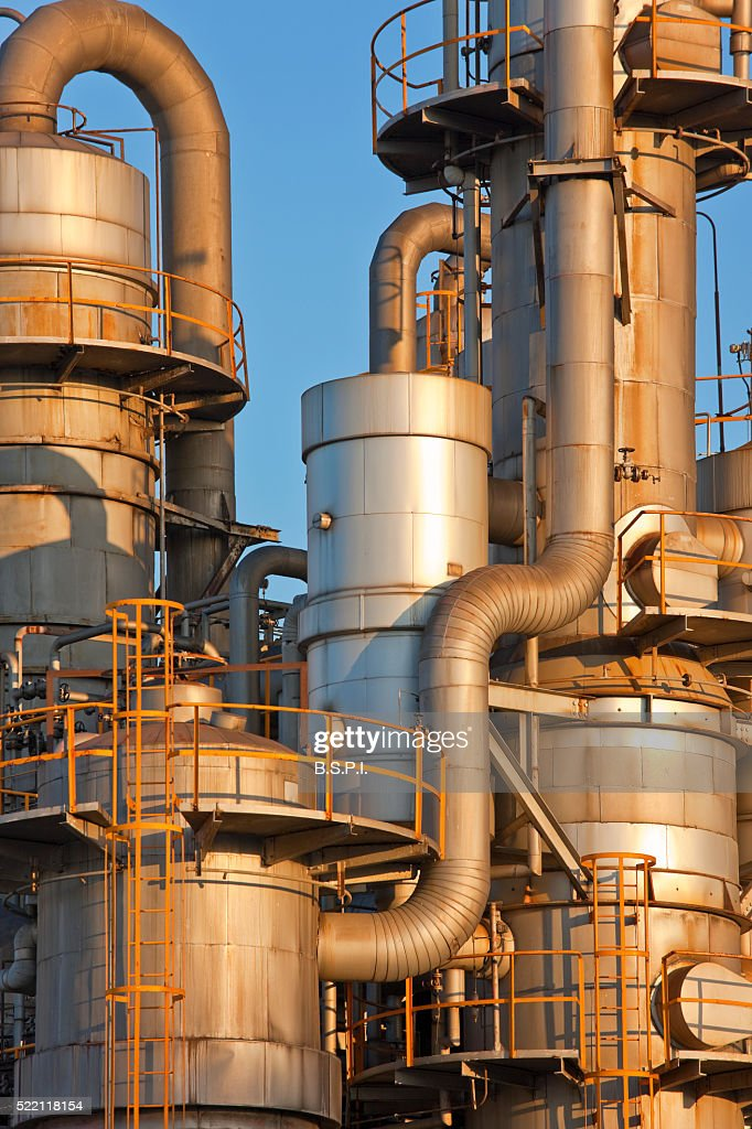Chemical Plant At Dawn In Kawasaki Japan Stock Photo - Getty Images