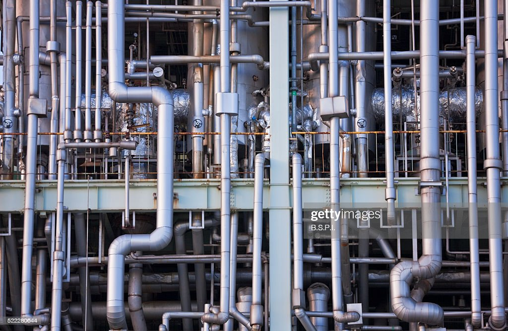 Chemical Plant Pipe Array In Kawasaki Japan Stock Photo - Getty Images