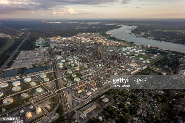 Chemical plants and factories line the roads and suburbs of the area known as 'Cancer Alley' October 15, 2013. 'Cancer Alley' is one of the most...