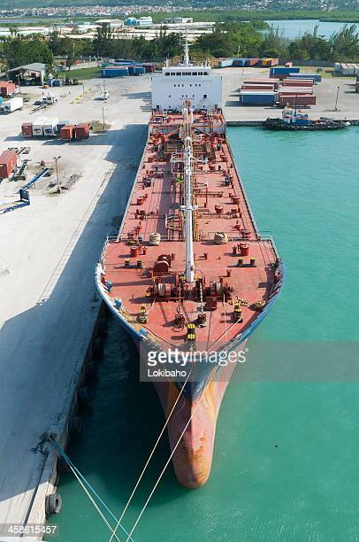 chemical tanker ship royal in port - kingston jamaica stock pictures, royalty-free photos & images