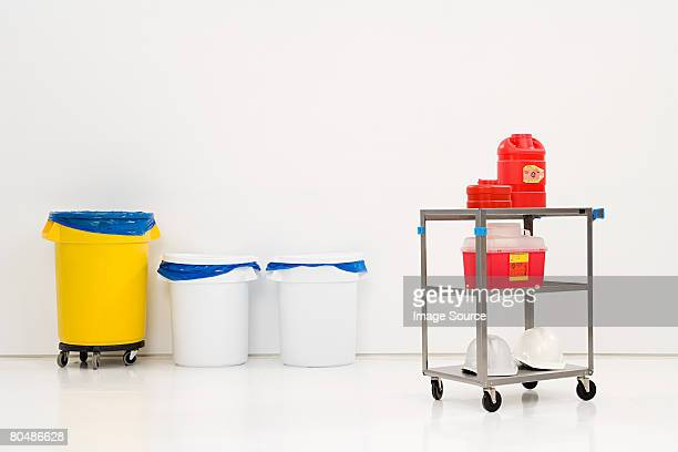 Chemical waste and bins