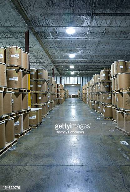 Chemicals in cold storage in a warehouse