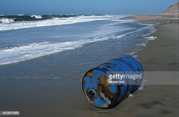 Chemiefass am Nordseestrand Wasserverschmutzung Verklappung