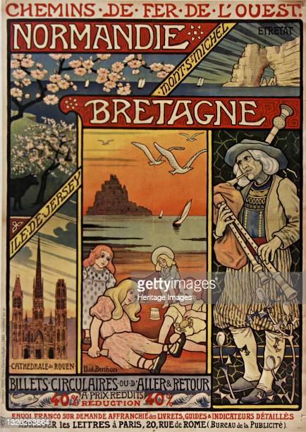 Chemins de fer de l'Ouest. Normandie, Bretagne , 1900. Private Collection. Artist Berthon, Paul .