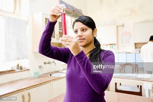 Chemistry Class Female Indian Student Delhi University Classroom