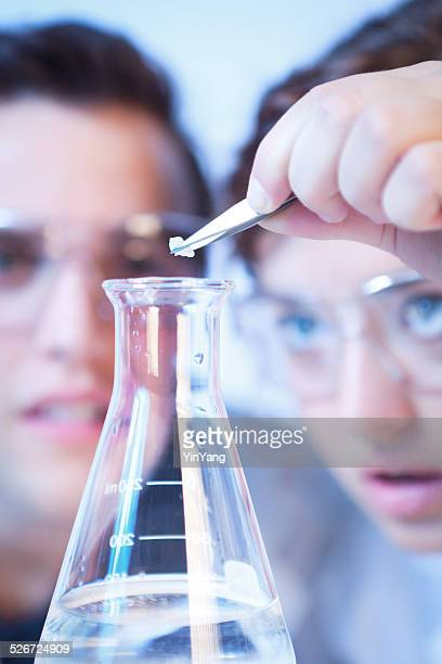Chemistry Laboratory Research Scientists Working in Experiment Together