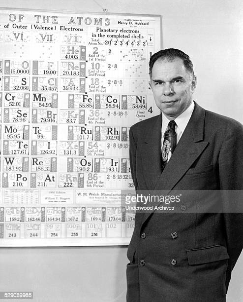 Chemistry Nobel Prize recipient Glenn Seaborg at the University of California Lawrence Radiation Lab Berkeley California circa 1951