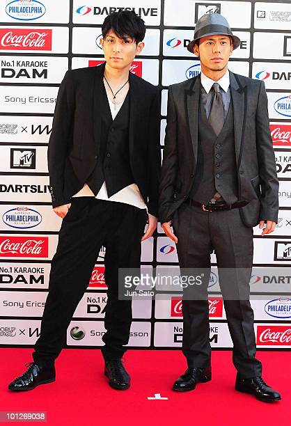 Chemistry walks on the red carpet during the MTV World Stage VMAJ 2010 at Yoyogi National Gymnasium on May 29 2010 in Tokyo Japan