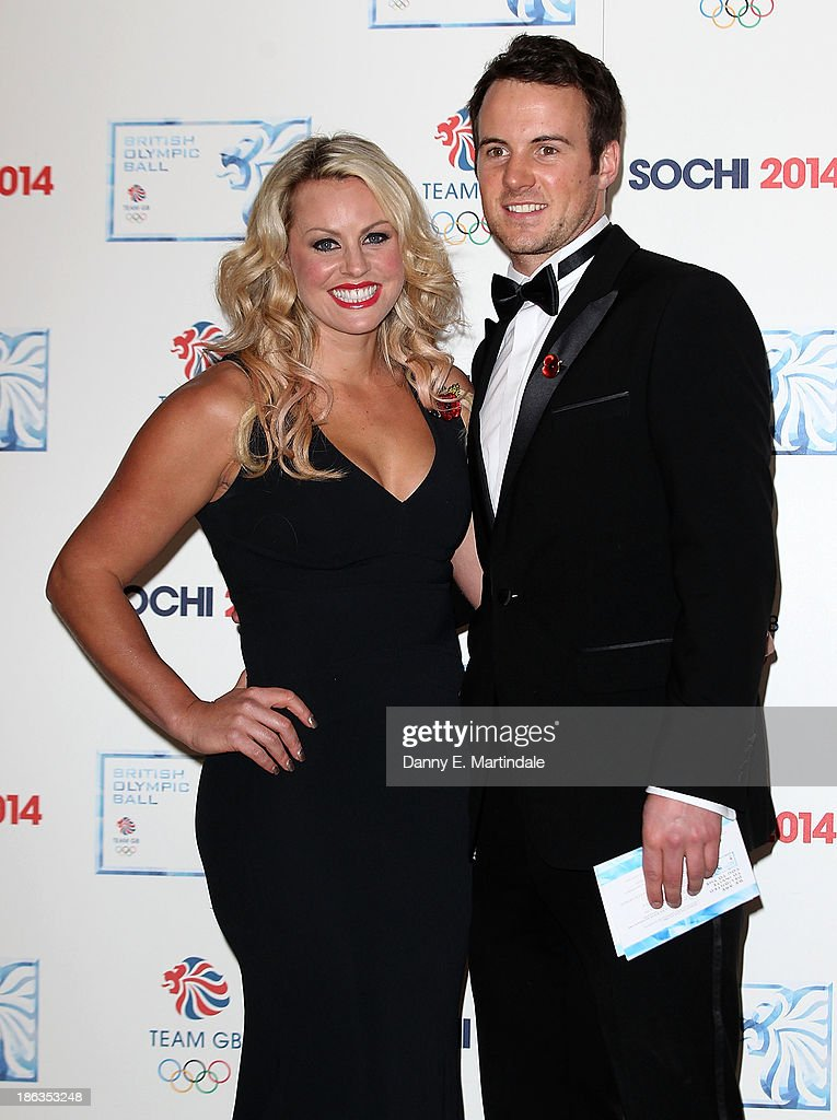 Chemmy Alcott and Dougie Crawford attend the British Olympic Ball at The Dorchester on October 30, 2013 in London, England.
