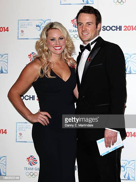 Chemmy Alcott and Dougie Crawford attend the British Olympic Ball at The Dorchester on October 30 2013 in London England