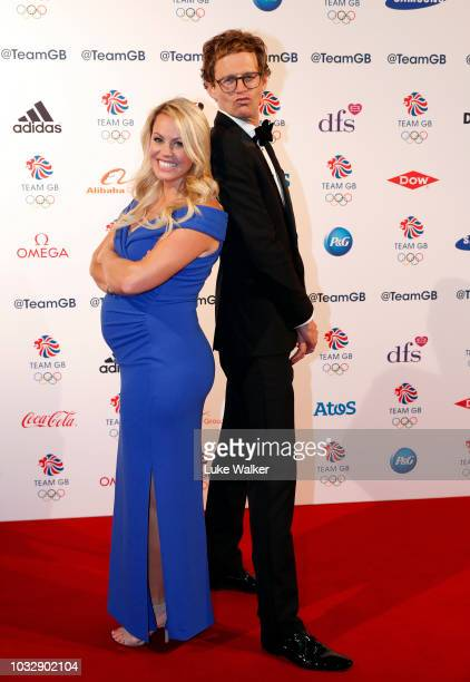 Chemmy Alcott and Mark Dolan attends The Team GB Ball 2018 held at The Royal Horticultural Halls on September 13 2018 in London England