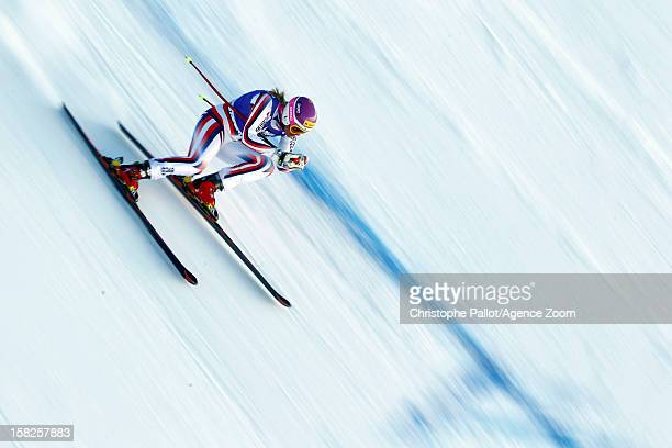 Chemmy Alcott of Great Britain competes during the Audi FIS Alpine Ski World Cup Women's Downhill training on December 12 2012 in Val d'Isere France