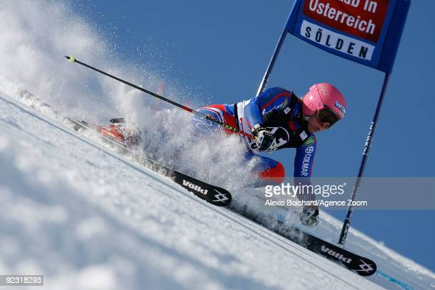 Chemmy Alcott of Great Britain during the Alpine FIS Ski World Cup Women's Giant Slalom on October 24 2009 in Solden Austria