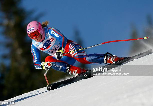 Chemmy Alcott of Great Britain participates in the Audi FIS Alpine Ski World Cup Women's Downhill training on December 2 2009 in Lake Louise Canada