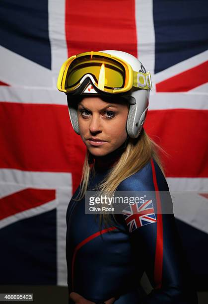 Chemmy Alcott of Great Britain poses during a portrait session ahead of the Sochi 2014 Olympic Games on January 27 2014 in London England
