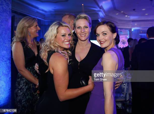 Chemmy Alcott of Great Britain Zara Philips of Great Britain and Victoria Pendleton of Great Britain pose for a picture during the British Olympic...