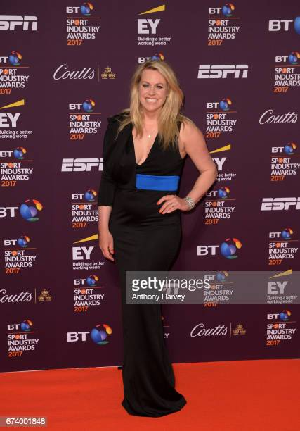 Chemmy Alcott poses on the red carpet during the BT Sport Industry Awards 2017 at Battersea Evolution on April 27 2017 in London England The BT Sport...
