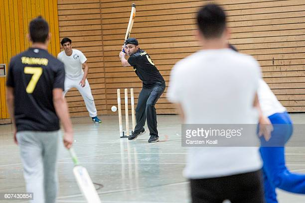 Chemnitz Cricket Team plays a match against the cricket team Spreejungs Fuerstenwalde during a regional tournament of teams from eastern Germany on...