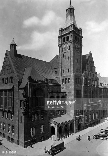 Chemnitz Das Neue Rathaus Rathaus um 1928