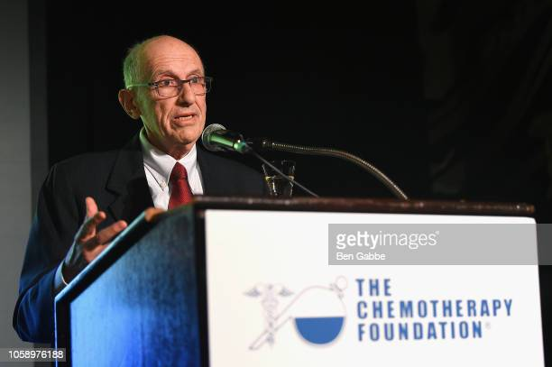 Chemotherapy Foundation Chair Director Dr Franco Muggia speaks onstage as Chemotherapy Foundation honors Actor Producer and Philanthropist Pierce...