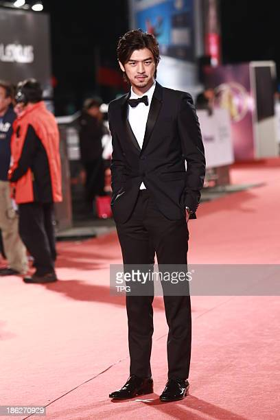 Chen Bolin attends the red carpet of the 48th Golden Bell Award on Friday October 252013 in TaipeiChina