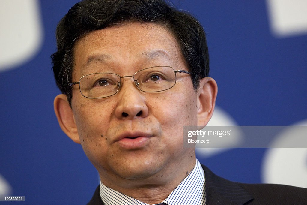 Chen Deming, China's minister of commerce, speaks during a news conference at the U.S.-China Strategic & Economic Dialogue in Beijing, China, on Monday, May 24, 2010. China and the U.S. can't balance trade between the two nations without greater exports of U.S. technology products to China, Chen said. Photographer: Nelson Ching/Bloomberg via Getty Images