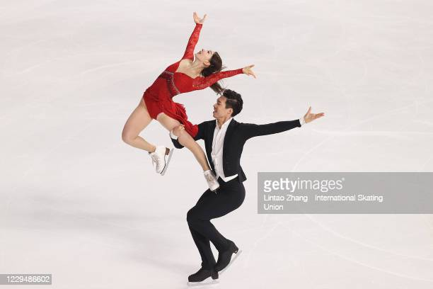 Chen Hong and Sun Zhuoming of China perform during the ICE Dance Rhythm Dance on day one of the ISU Grand Prix of Figure Skating Cup of China at...