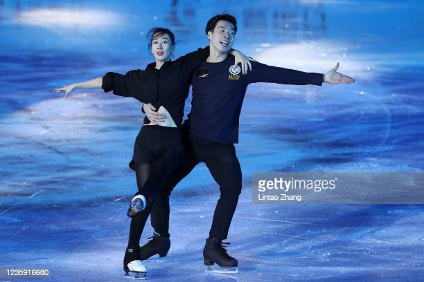 Chen Hong and Sun Zhuoming of China performs in the gala exhibition during day 4 of the 2021 Asia Open Figure Skating test event for the Beijing 2022...