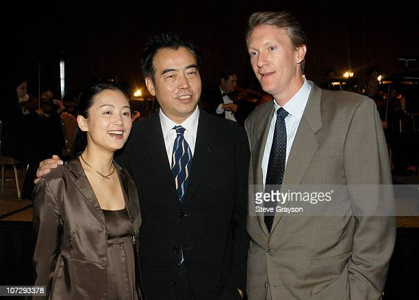 """Chen Hong, Chen Kaige and Chris McDuirk. During United Artists Presents a Special Screening of """"Together"""" - Reception and Orchestral Performance at..."""