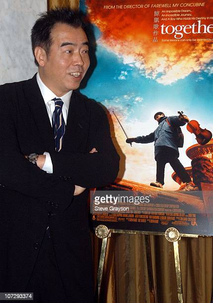 """Chen Kaige during United Artists Presents a Special Screening of """"Together"""" - Reception and Orchestral Performance at The Regent Beverly Wilshire..."""