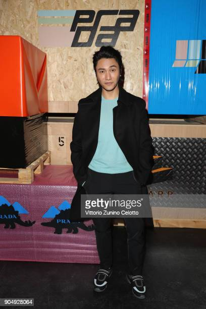 Chen Kun attends Prada F/W 18 Men's Fashion Show on January 14 2018 in Milan Italy