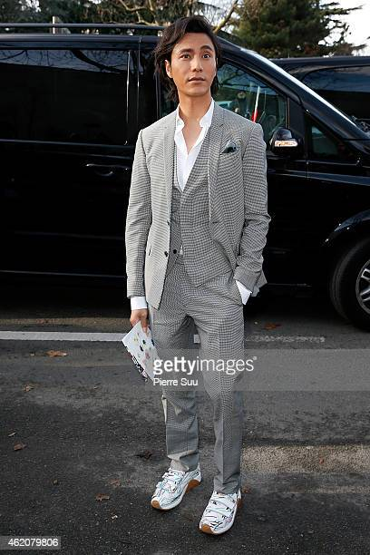 Chen Kun attends the Dior Homme Menswear Fall/Winter 20152016 Show as part of Paris Fashion Week on January 24 2015 in Paris France