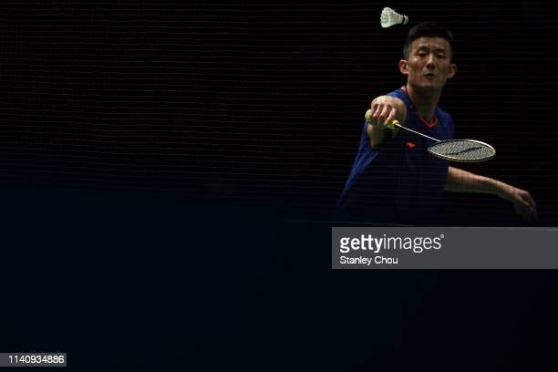 Chen Long of China in action on day six of the Badminton Malaysia Open at Axiata Arena on April 07, 2019 in Kuala Lumpur, Malaysia.