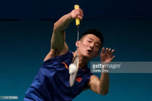 Chen Long of China in action on day three of the Badminton Malaysia Open at Axiata Arena on April 4, 2019 in Kuala Lumpur, Malaysia.