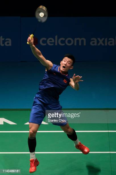 Chen Long of China in action on day three of the Badminton Malaysia Open at Axiata Arena on April 04, 2019 in Kuala Lumpur, Malaysia.