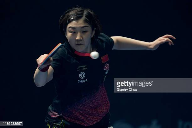 Chen Meng of China in action during day three of the T2 Diamond 2019 Singapore at the Our Tampines Hub on November 23, 2019 in Singapore.