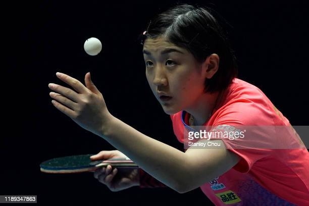 Chen Meng of China in action during day two of the T2 Diamond 2019 Singapore at the Our Tampines Hub on November 22, 2019 in Singapore.