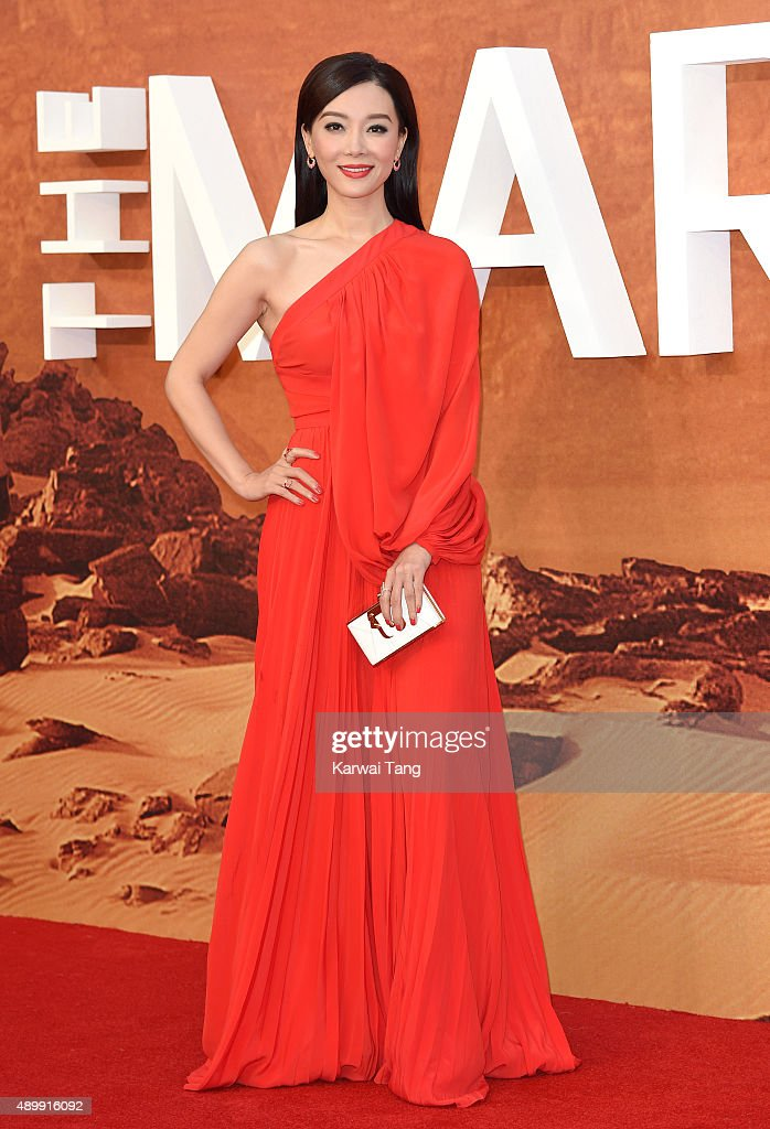 Chen Shu attends the European premiere of 'The Martian' at Odeon Leicester Square on September 24, 2015 in London, England.