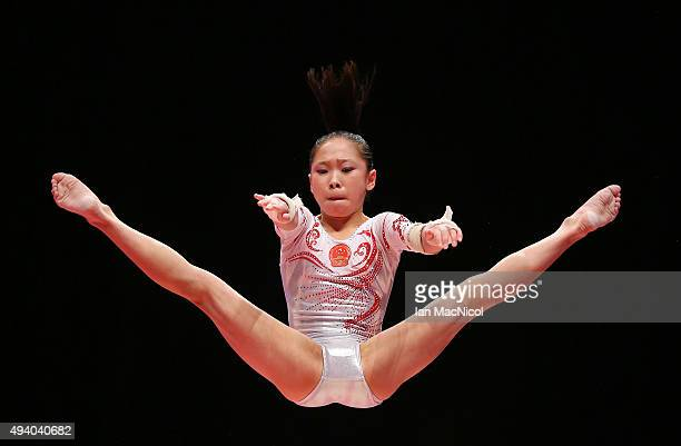 Chen Siyi of China competes on the Uneven Bars during day Two of the 2015 World Artistic Gymnastics Championships at The SSE Hydro on October 24 2015...