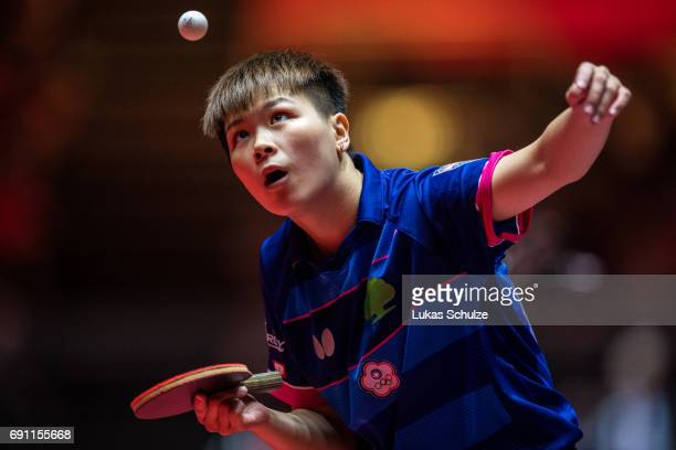 Chen SzuYu of Taiwan competes at Table Tennis World Championship at Messe Duesseldorf on June 01 2017 in Dusseldorf Germany