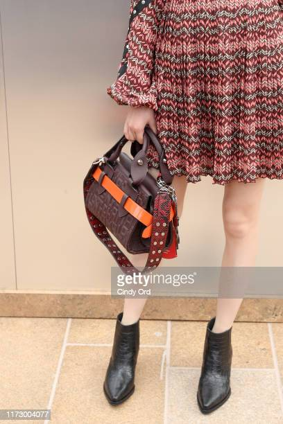 Chen Yuqi details attends the Longchamp SS20 Runway Show at Hearst Plaza Lincoln Center on September 07 2019 in New York City