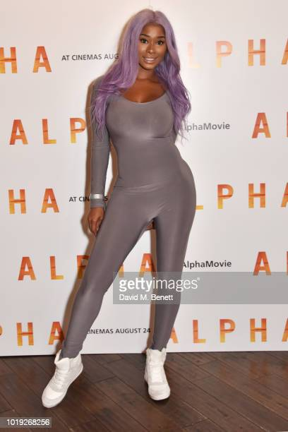 Chenade Laroy attends the Gala Screening of Alpha at Picturehouse Central on August 19 2018 in London England