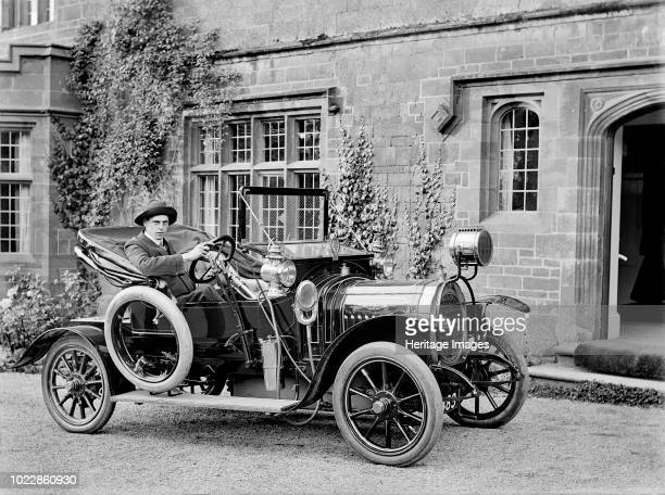 Chenard Walcker motor car Farnborough Grange Farnborough Warwickshire 1906 Note the car does not have any lights apart from what looks to be a large...