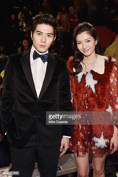 Cheney Chen and Shuying Jiang attend Tommy Hilfiger Presents Fall 2015 Women's Collection during MercedesBenz Fashion Week Fall 2015 at Park Avenue...