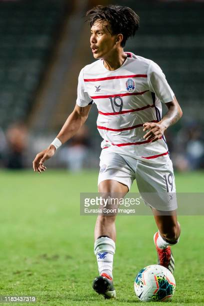Cheng Meng of Cambodia in action during the FIFA World Cup Asian Qualifier second round match between Hong Kong and Cambodia on November 19 2019 in...